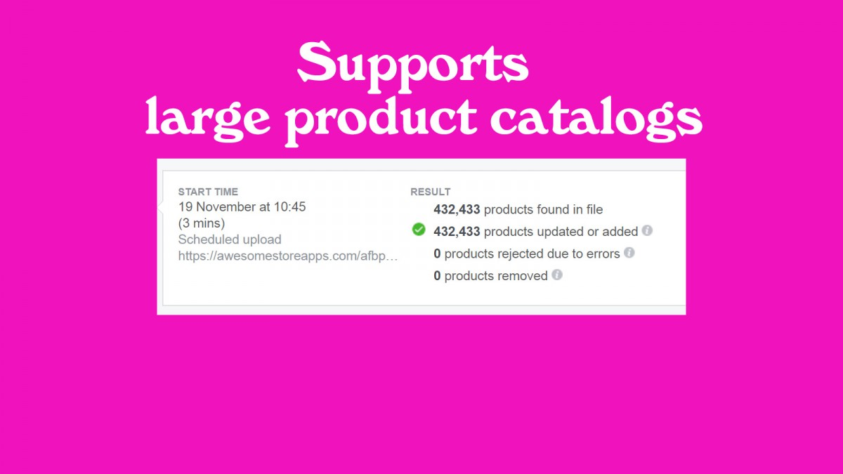 Supports large product catalogs